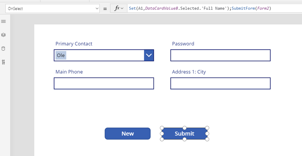 select combo box and submit form