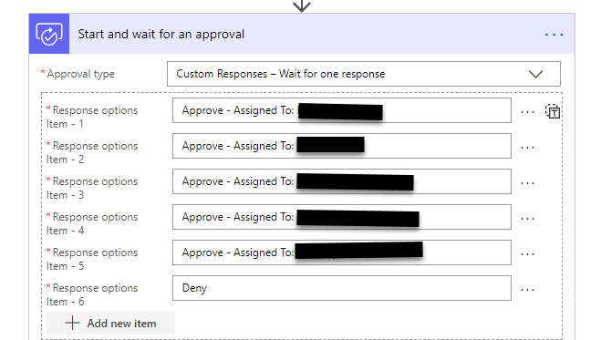 Custom approval list