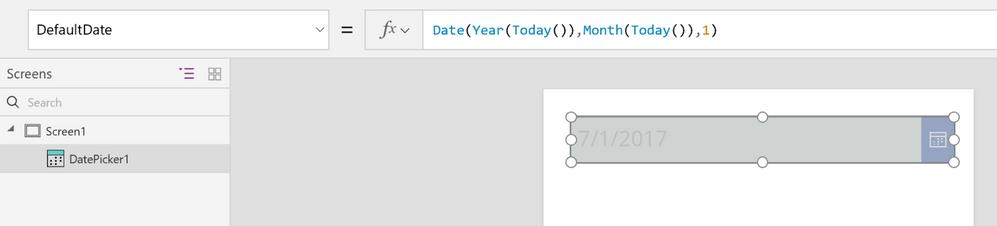 powerapps set default date.png