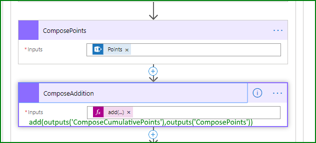 Add Compose controls for new points, add them to cumulative points