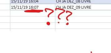 Excel show the time I sent
