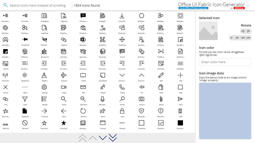office ui fabric icon generator power platform community office ui fabric icon generator power