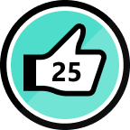 25 Kudos Given Badge