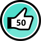 50 Kudos Given Badge
