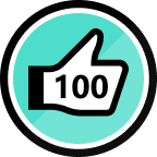 100 Kudos Given Badge