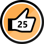 25th Kudo Received Badge