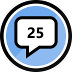 25th Reply Badge