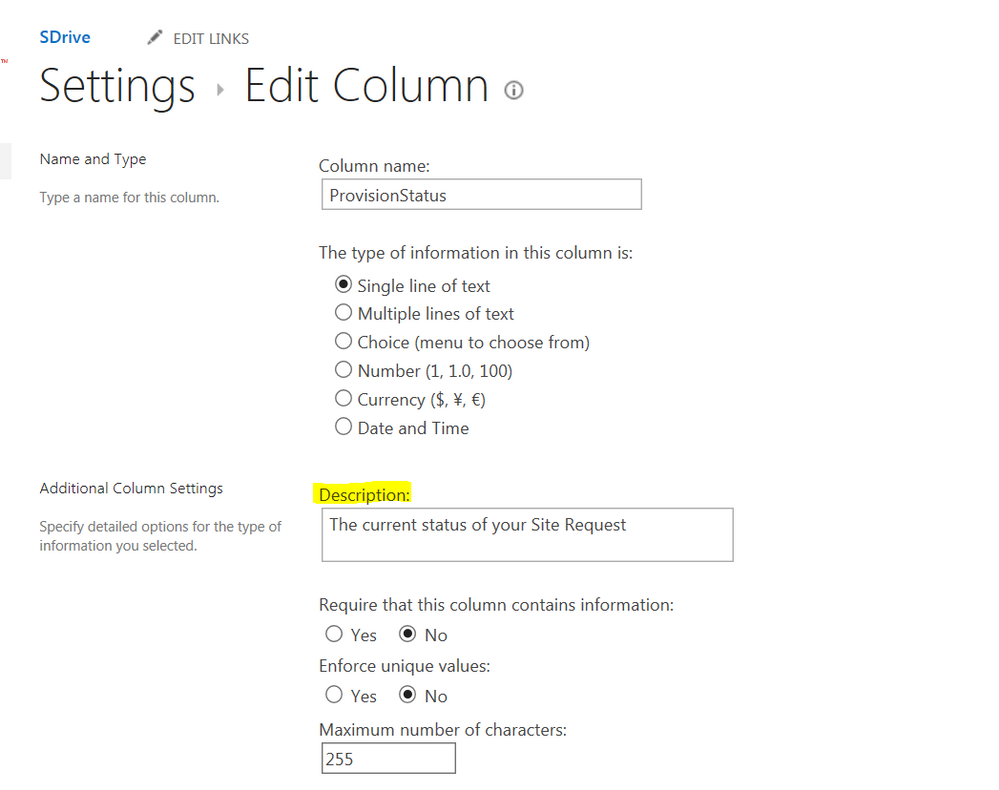 How to get sharepoint field description? - Power Users Community