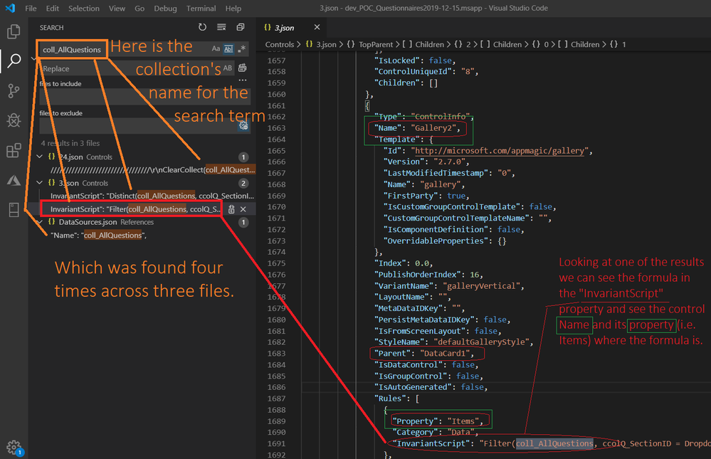 Hunting Collections and Formula Text with VS Code.png