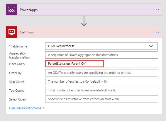 SQL Server Get Rows - How to add filter - Power Platform Community
