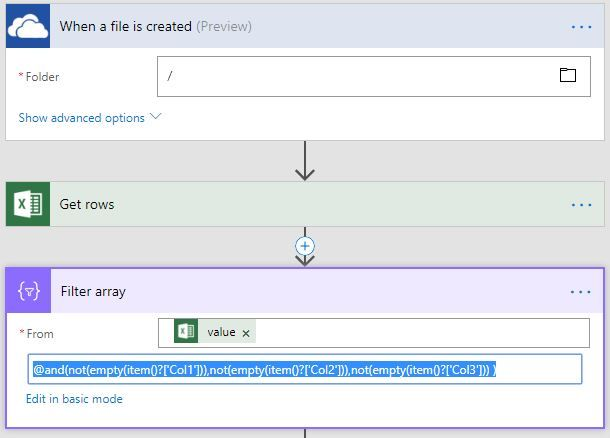 solved get rows from excel file run time and insert it in