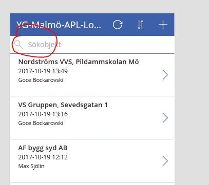 Solved: Search bar in powerapps - Power Platform Community