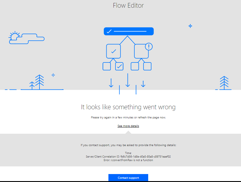Flow editor error in chrome firefox ok power users community errorchromeag ccuart Choice Image