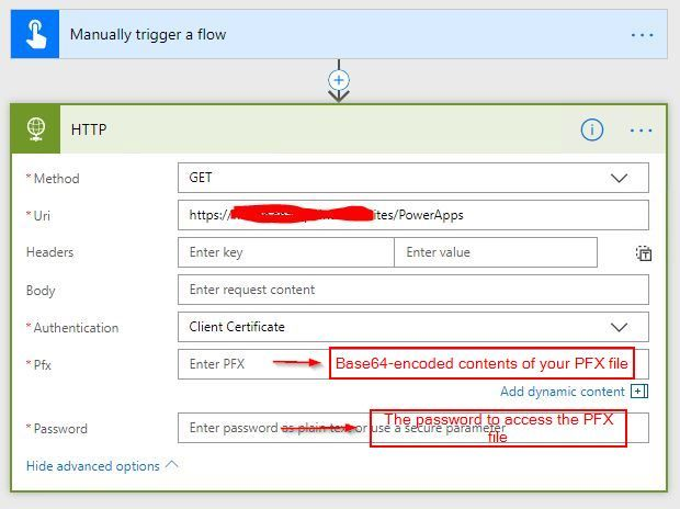 How to use client certificate auth in HTTP action ... - Power Users ...