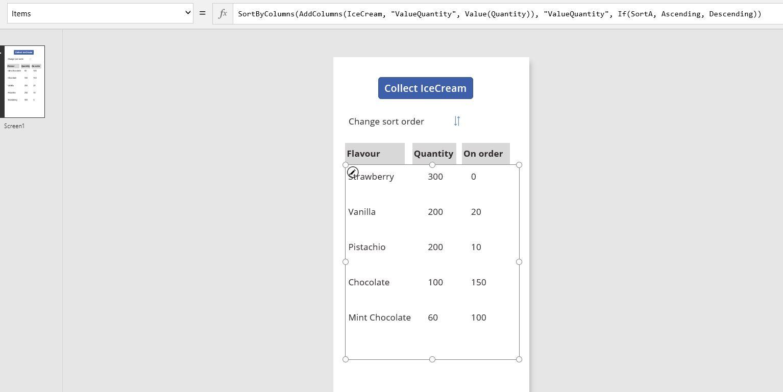 Solved: Sort Ascending / Decending - Page 2 - Power Platform