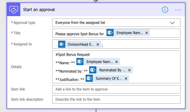 Solved: Flow approval details card markdown - Power Platform Community