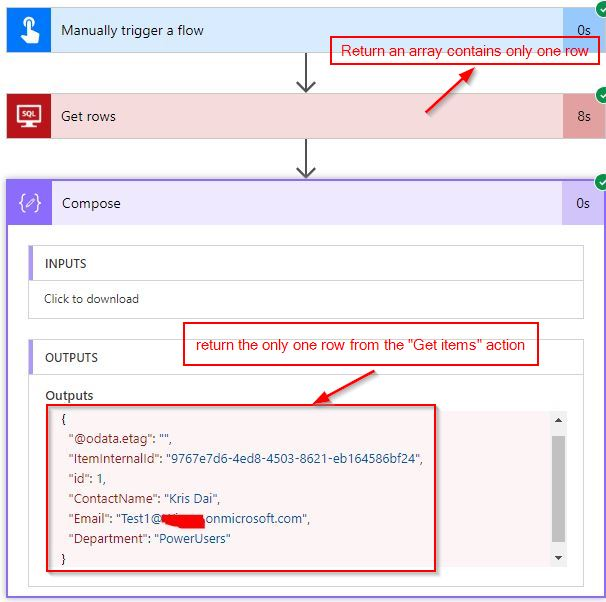 Solved: Get single row from SQL Server - Power Platform
