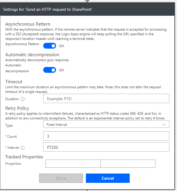 Solved: Send an HTTP Request to SharePoint fails with 502