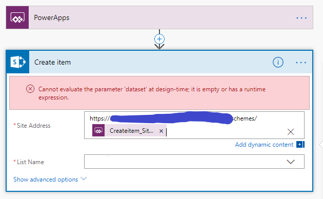 Solved: Create Sharepoint list item - Dynamic URL - Power