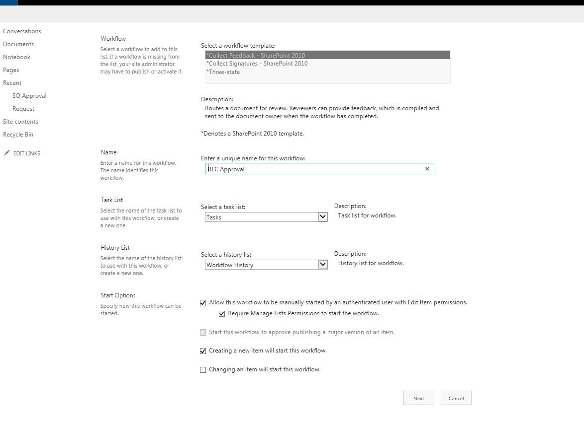 Sharepoint Workflow Settings Power Platform Community