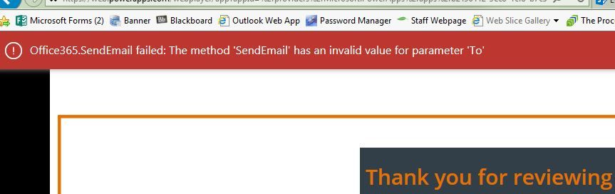 Office365 SendEmail failed: The method 'SendEmail