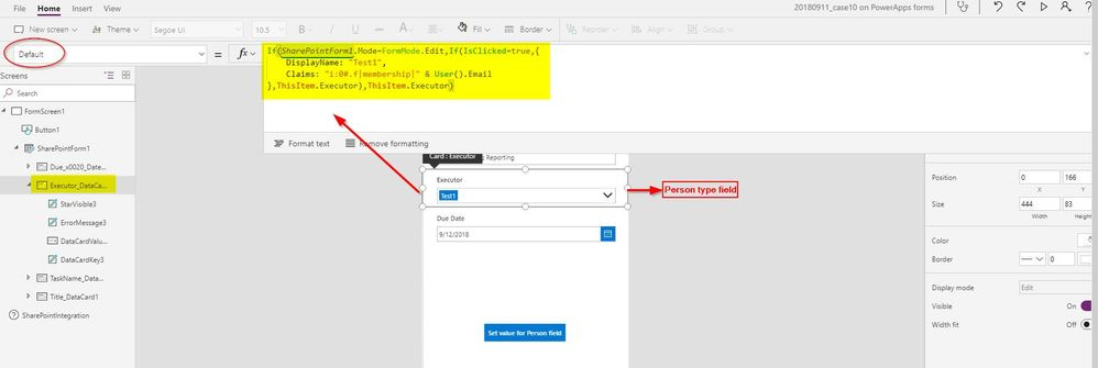 Solved: Update people picker field -SharePoint list form