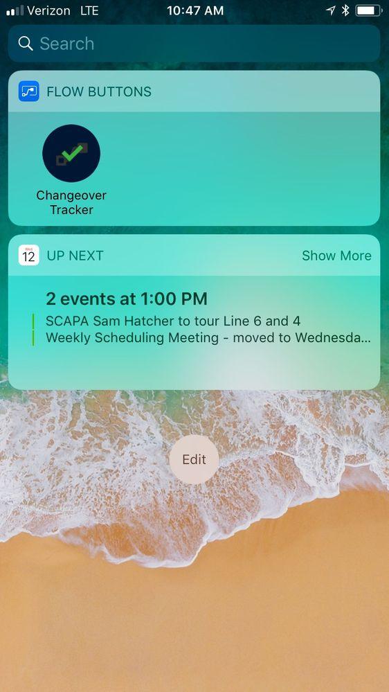 Widget from iOS Not Triggering Inputs - Power Platform Community