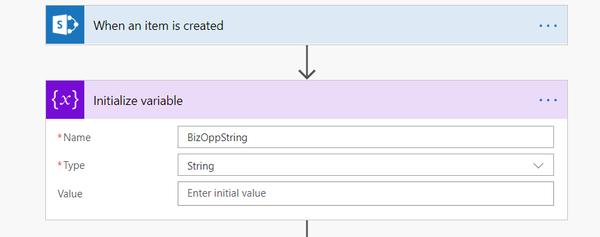Solved: Microsoft Flow combining Multiple Values from a Sh