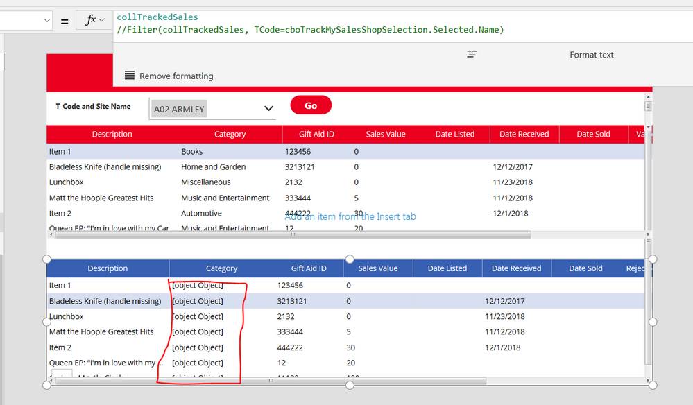 Solved: powerapps datatable using Collection as datasource