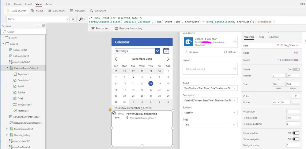 Sharepoint Calendar W Powerapps Calendar Template Power Platform