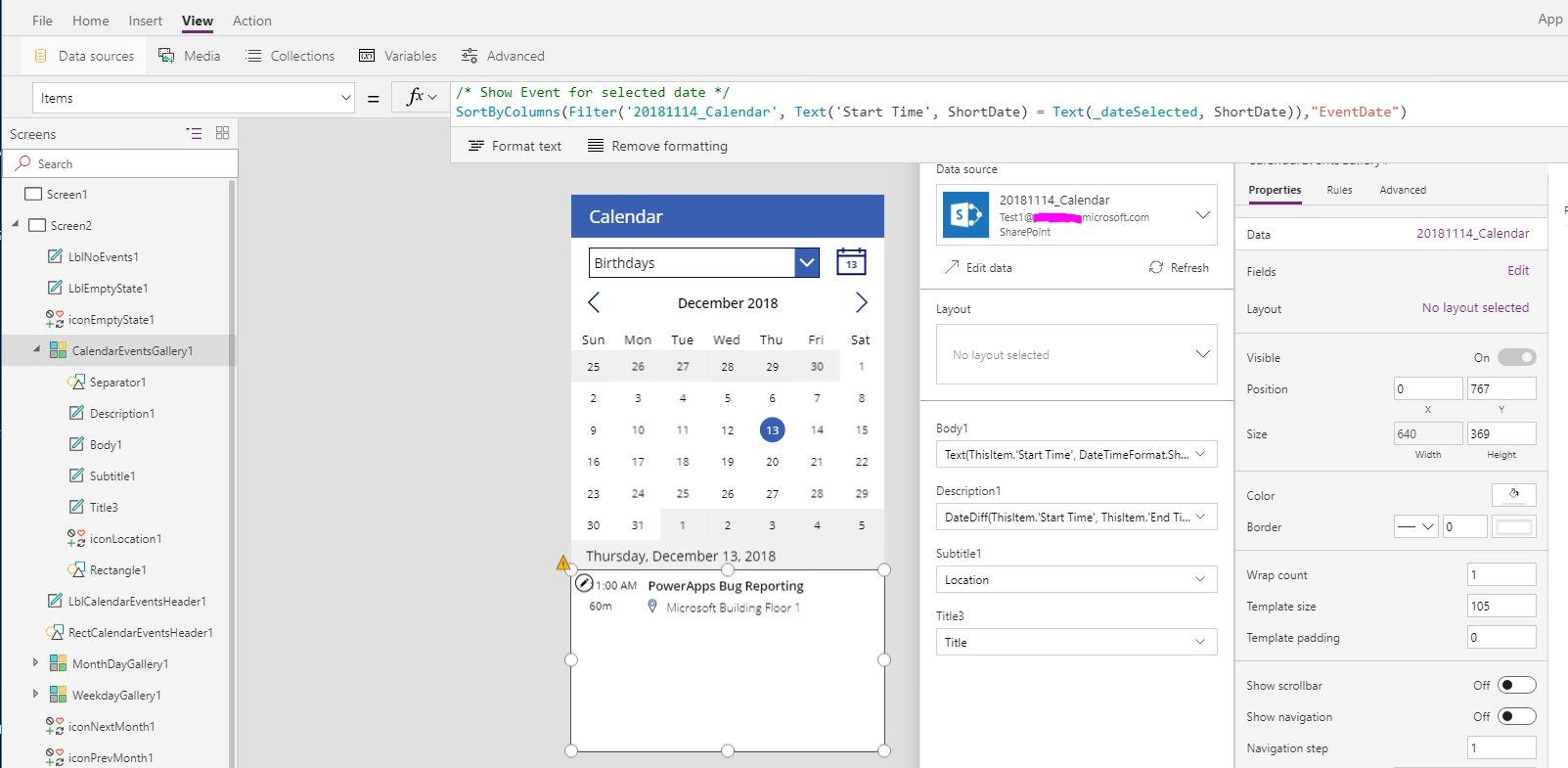 sharepoint calendar w   powerapps calendar template