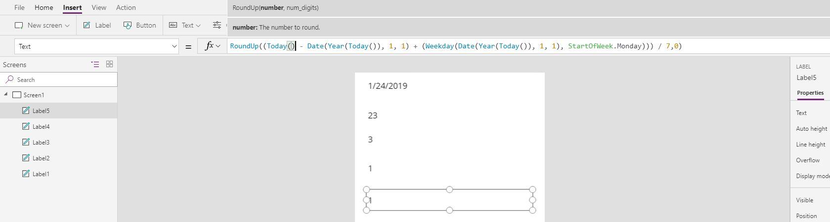 Solved: Number of current week - Power Platform Community
