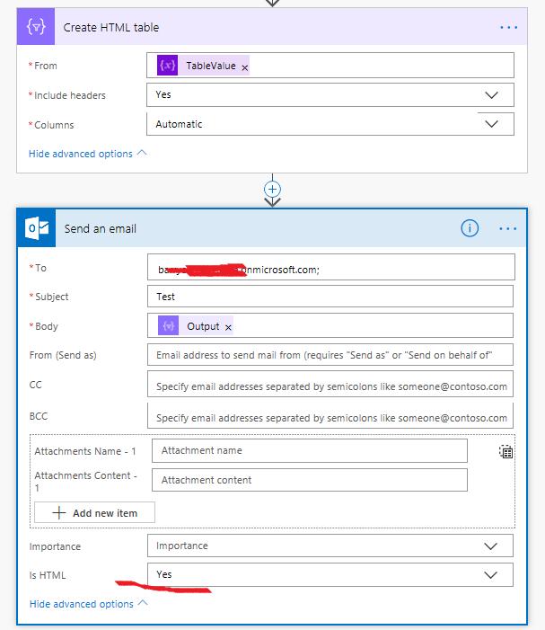 Solved: HTML Table Flow Emails - Power Platform Community