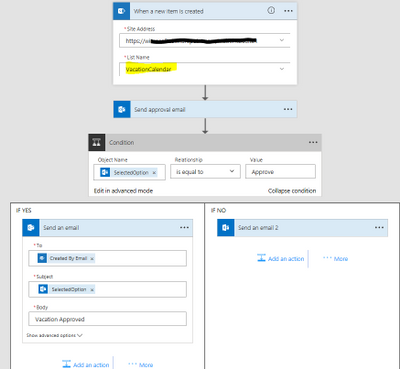 does flow work with sharepoint online calendars power platform