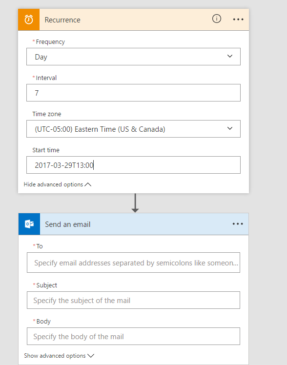 How to create a recurring email message in outlook 365