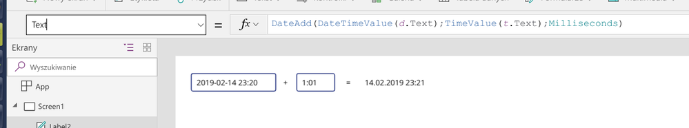 Solved: How to add date and time in Powerapps? - Power