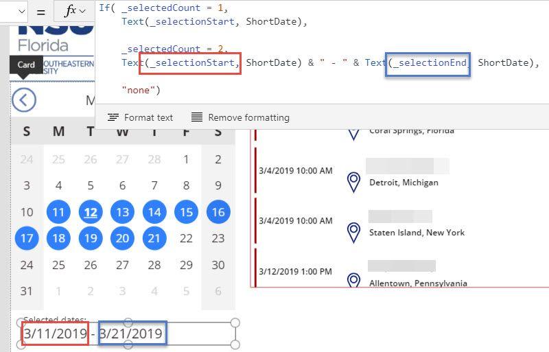 Solved: Filter Gallery by Calendar date range - Power