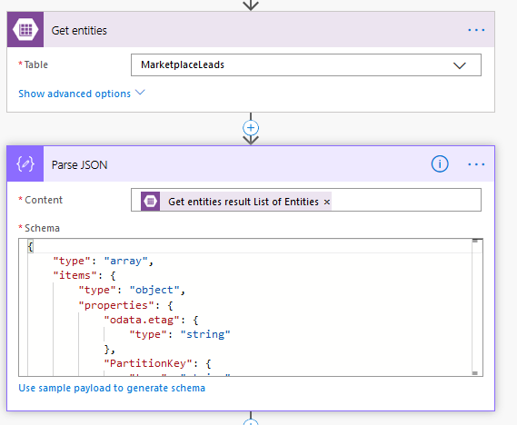 Solved: Parsing JSON from MS Leads in Azure Table - Power