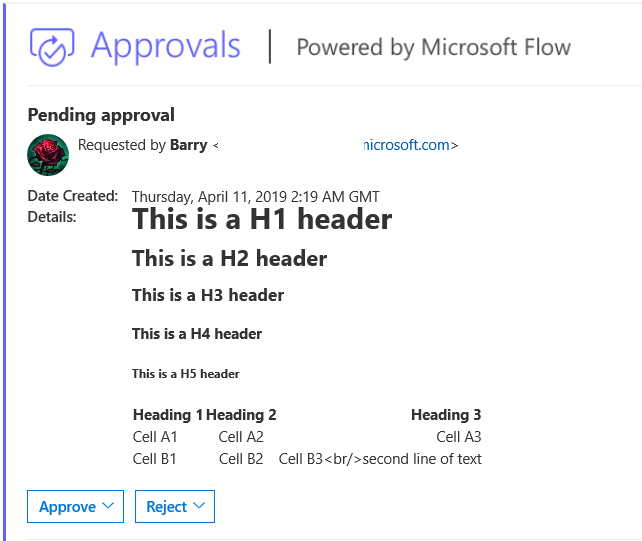 Approval flow with table - Power Platform Community