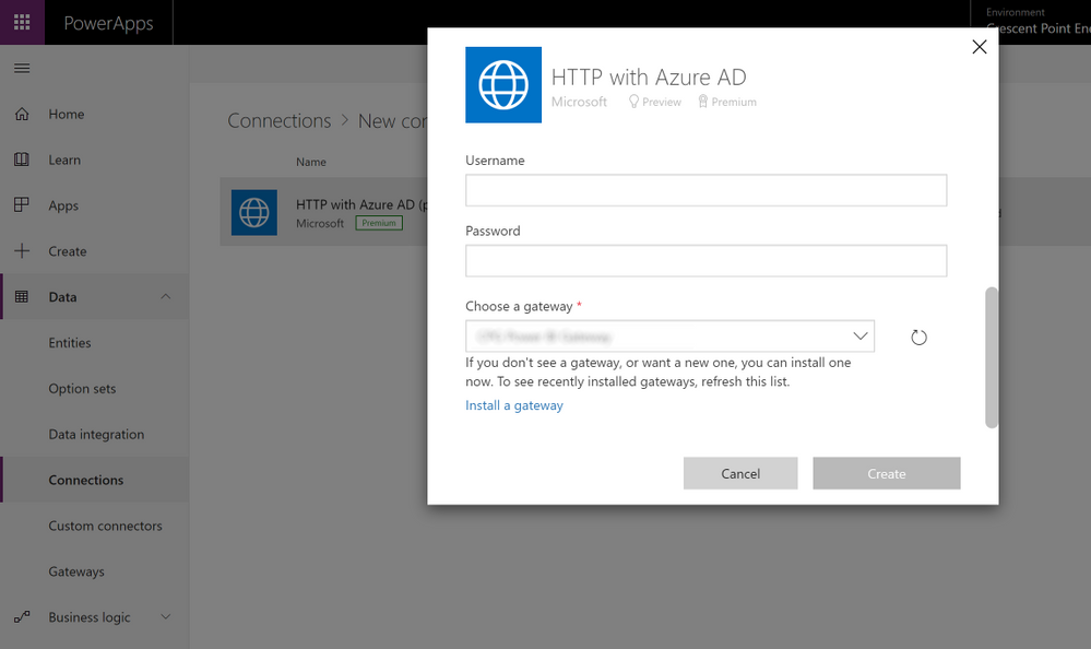 PowerApps Gateway Connection Working.png