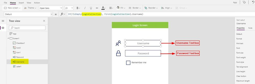 Solved: save username and password field in login screen