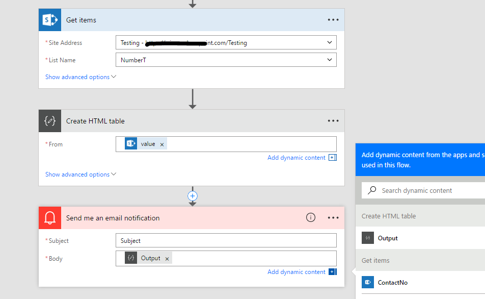 Solved: Sharepoint List to Html Table in Send email - Power