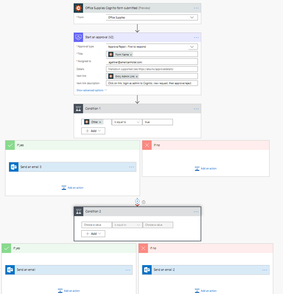 Cognito form approval flow - Power Platform Community