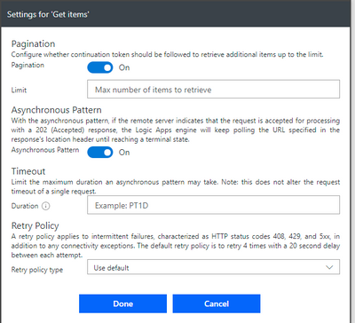 Solved: Get items from Sharepoint action fetches first 100
