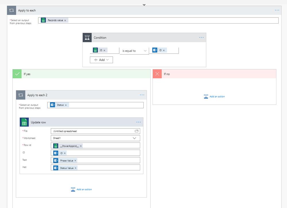 Help updating row in Google Sheets - Power Platform Community