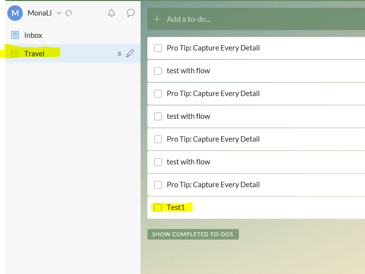 please check if you are looking for the task in work tasks list in your wunderlist