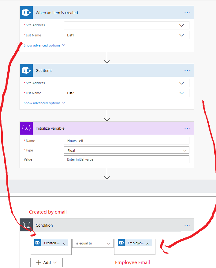 Get Value From Sharepoint List Column Into Variabl