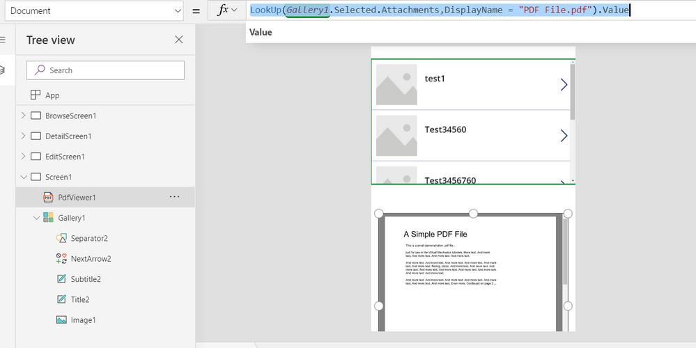 PowerApps SharePoint Attachment PDF - Power Platform Community
