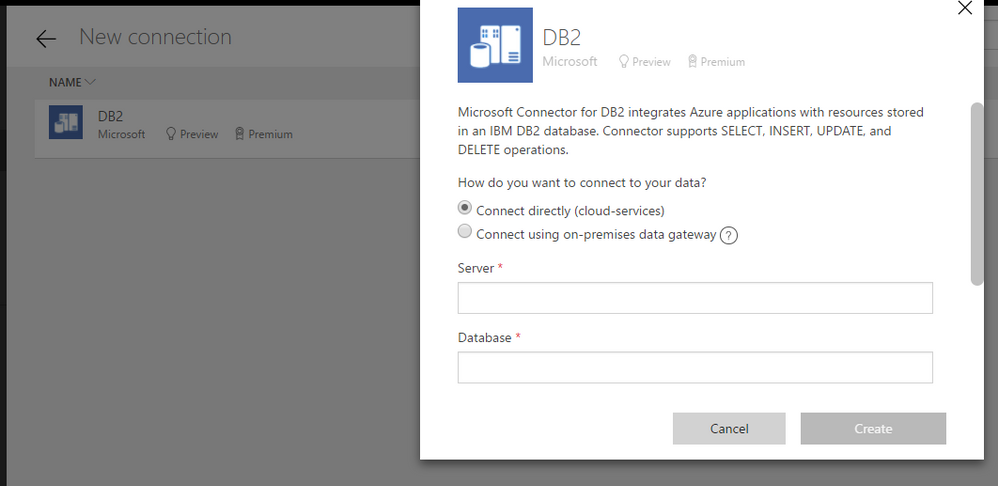 Help connecting IBM DB2 database to powerapps - Power Platform Community