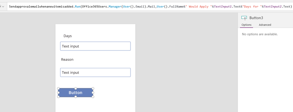 This Would Have The User Send The Email With The Details Specified Within  PowerApps, Then Pass It Into Microsoft Flow.